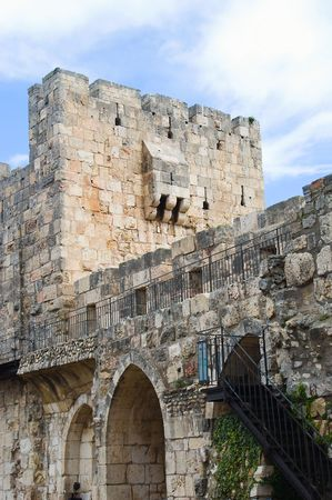 an old wall in Jerusalem photo