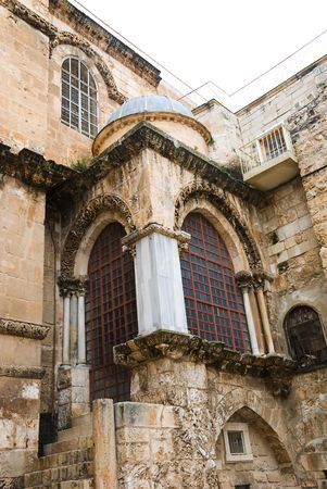 credence: an old church in Jerusalem Stock Photo