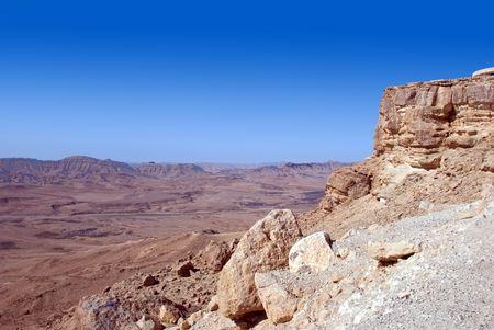 negev: Empty desert landscape, Negev, Israel
