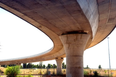 Fragment of an overpass outside city