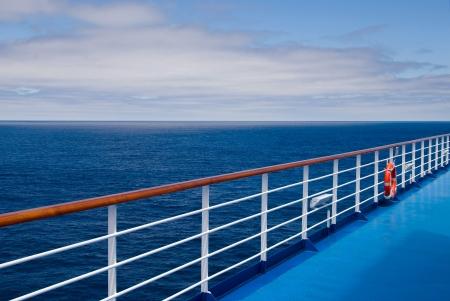ocean liner: Promenade deck on a cruise ship
