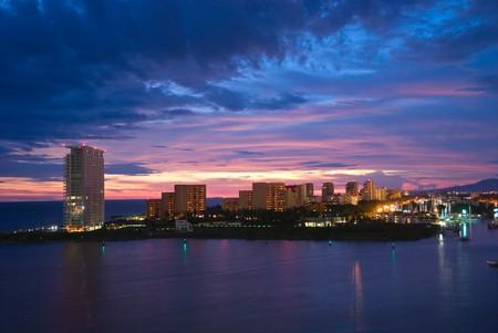 Beautiful sunset in Puerto Vallarta, Mexico photo