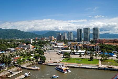 mexico city: view of Puerto Vallarta city, Mexico