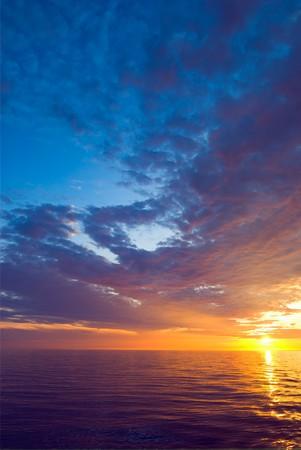 Beautiful sunset at Pacific ocean
