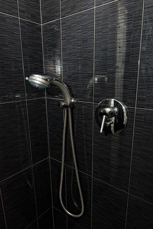 closeup of shower and faucet in the bathroom Stock Photo - 8192225