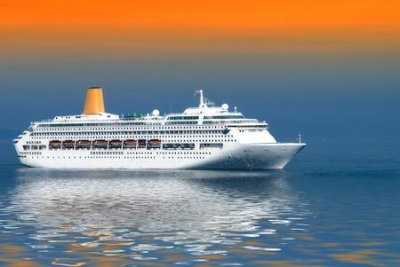 cruise ship in Monte-Carlo water area