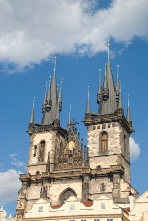 tyn: Church of our lady before Tyn. Prague, Czech Republic