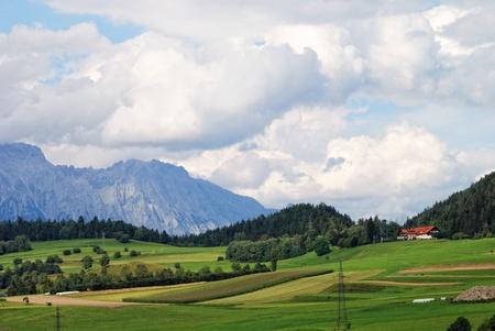 peaseful mountain landscape, France, Alsace photo