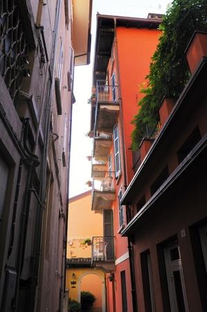 arona: typical backyard in Arona, Italy