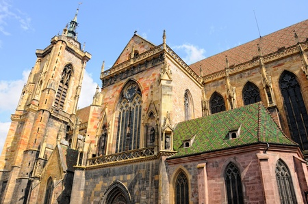 colmar: Colmar, Alsace, France, the Saint Martins Cathedral
