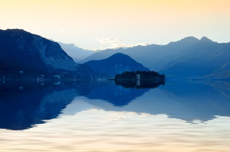 sunset on beautiful Lake Maggiore, Italy