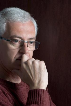 an adult pensive man portreit