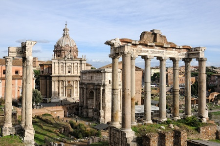 Roman ruins in Rome, Fori Imperiali. Stock Photo - 11789660