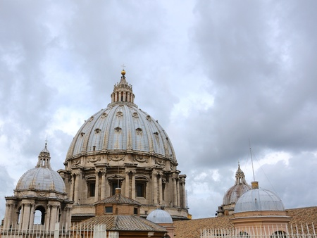 View on cupola of St.Peter's Cathedral, Vatican photo