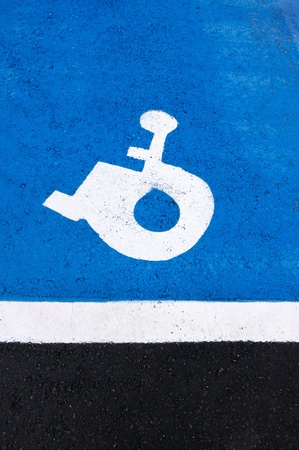 parking place reserved to invalid people photo