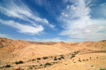 View of Judean desert landscape