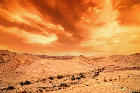 View of Judean desert landscape photo