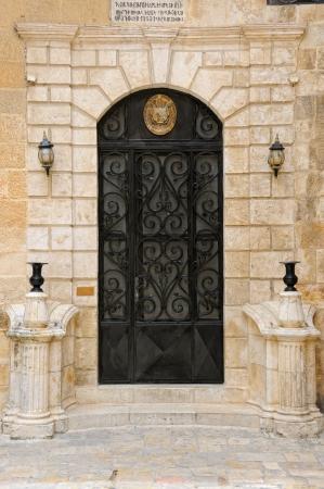 Armenian emblem on the door, St James Cathedral, Jerusalem photo