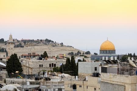 Old city of Jerusalem  Temple Mount  Dome on the Rock Stockfoto