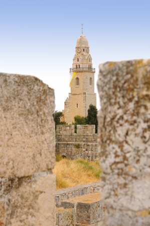 Church Tower of the Dormition, Jerusalem, Israel photo