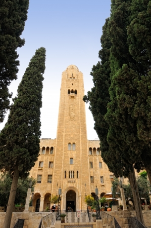 Jerusalem, Israel - MAY 27  Jerusalem International YMCA, designed by Arthur Lewis Harman, was built in 1933  It is a city landmark that houses the beautiful Three Arches Hotel on MAY 27, 2012  Stock Photo - 13893978
