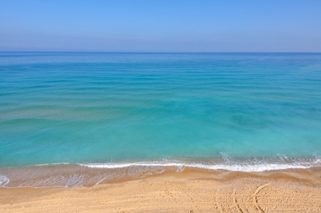 view of mediterranean sea in Israel photo