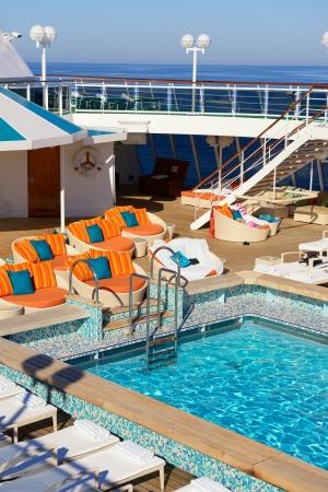 pool area on the cruise ship