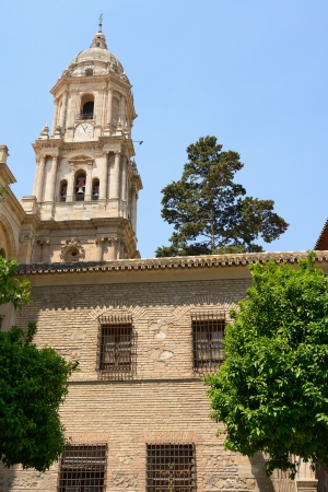 Backyard of Malaga cathedral, Andalusia, Spain photo
