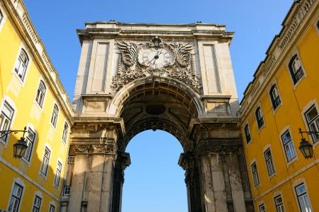 baixa: Famous arch at the Praca do Comercio