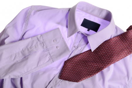 pink shirt isolated on white background Stock Photo - 15351061