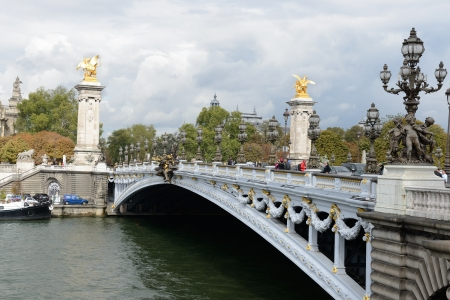concluded: PARIS, FRANCE-  SEPTEMBER 27.Bridge ( pont) Alexandre III, Paris, France at september 27, 2012.  It is named after Tsar Alexander III, who had concluded the Franco-Russian Alliance in 1892.