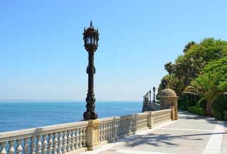View of embankment Cadiz city , Spain photo