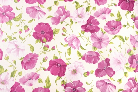 background of oilcloth with  floral pattern photo