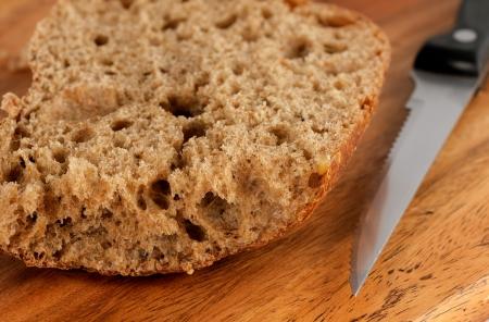 traditionary: traditionary baking and knife, closeup