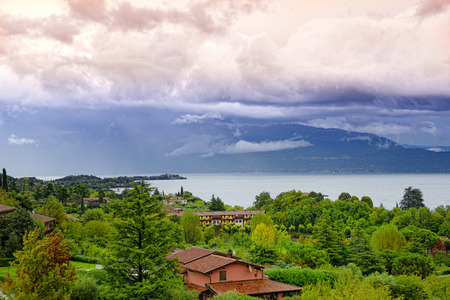 View of  the Garda lake, Italy photo