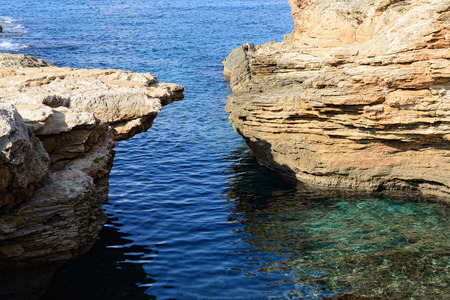 nature reserves of israel: chalk cliff at Rosh Hanikra reserve, northern Israel