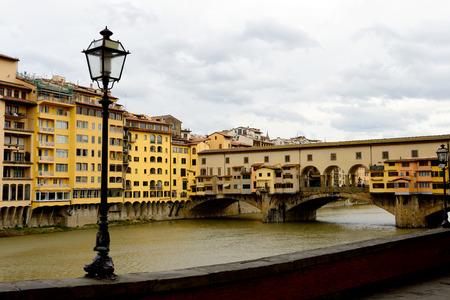arno: Ponte Vecchio on Arno river. Florence, Italy.