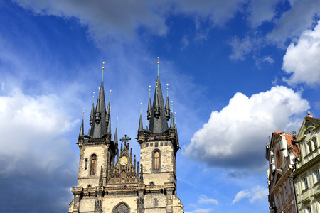 the church of our lady: Church Our Lady before Tyn in Prague, Czech Republic