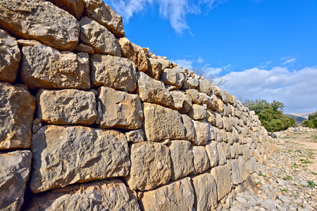galilee: Ruins of the Nimrod fortress on the north Galilee , Israel