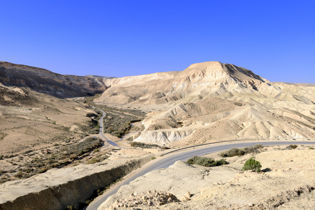 canyon negev: Ein Avdat Canyon on the Negev desert. Southern Israel. Stock Photo