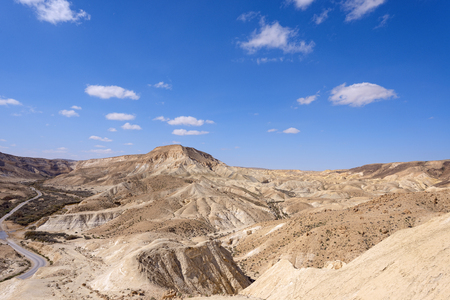 canyon negev: Ein Avdat Canyon on the Negev desert.  Southern Israel.