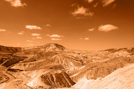 canyon negev: Ein Avdat Canyon on the Negev desert.  Southern Israel. Image toned.