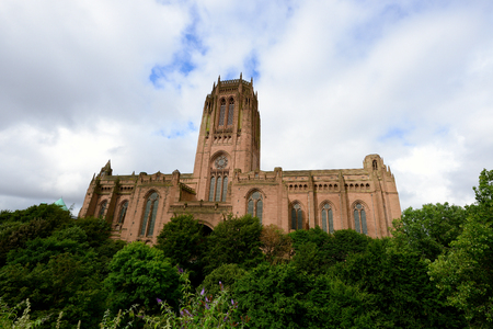 gothic revival: Liverpool Cathedral of the Church of England. Gothic Revival landmark.