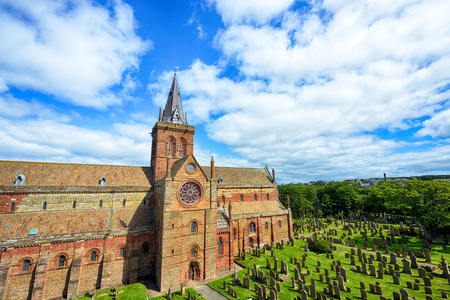 religion ritual: St Magnus Cathedral, Kirkwall, Orkney, Scotland. Stock Photo