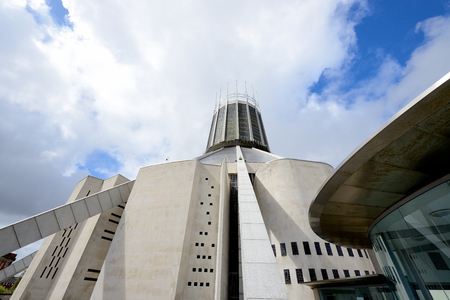 The modern Metropolitan Cathedral in Liverpool, United Kingdom. Stock Photo