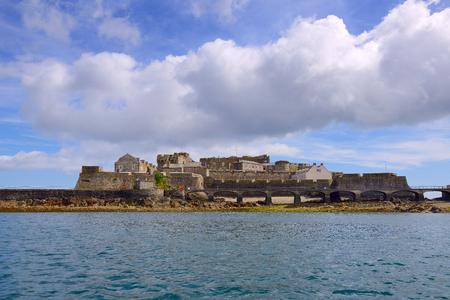 bailiwick: Castle Cornet has guarded Saint Peter Port. Island Guernsey, Grate Britain. Editorial