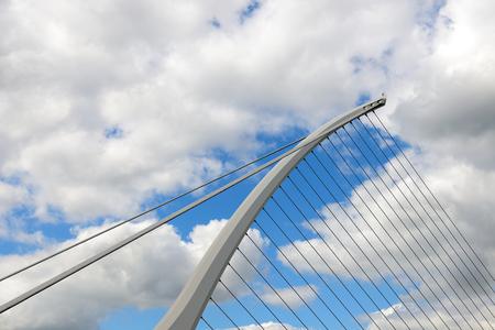 samuel: Detail of Samuel Beckett Bridge Dublin Ireland