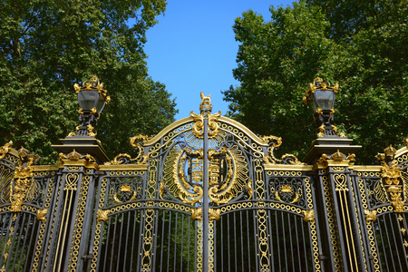 Gate near Buckingham Palace. London. Editorial