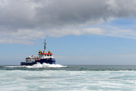 transportaion: passenger boat on a route in the English Channel Stock Photo