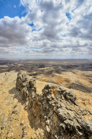holyland: View of the Big Crater (HaMakhtesh HaGadol) in Israel
